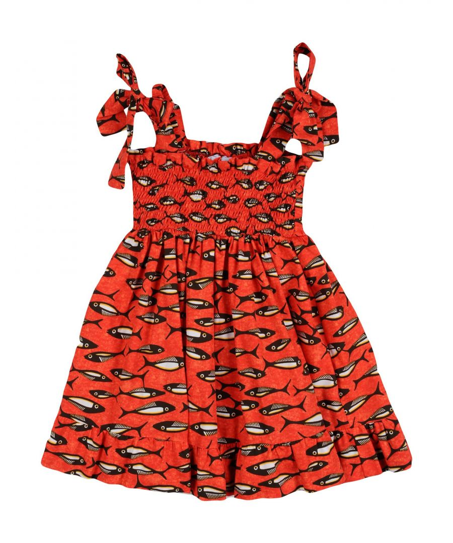 Image for Stella Jean Girl Dresses Red Cotton