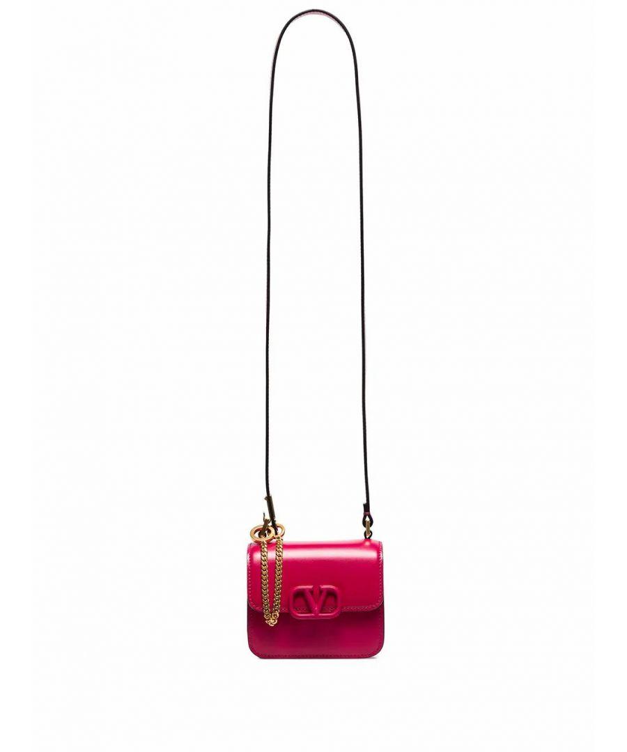 Image for VALENTINO WOMEN'S TW0B0G44HFBMF5 FUCHSIA LEATHER SHOULDER BAG