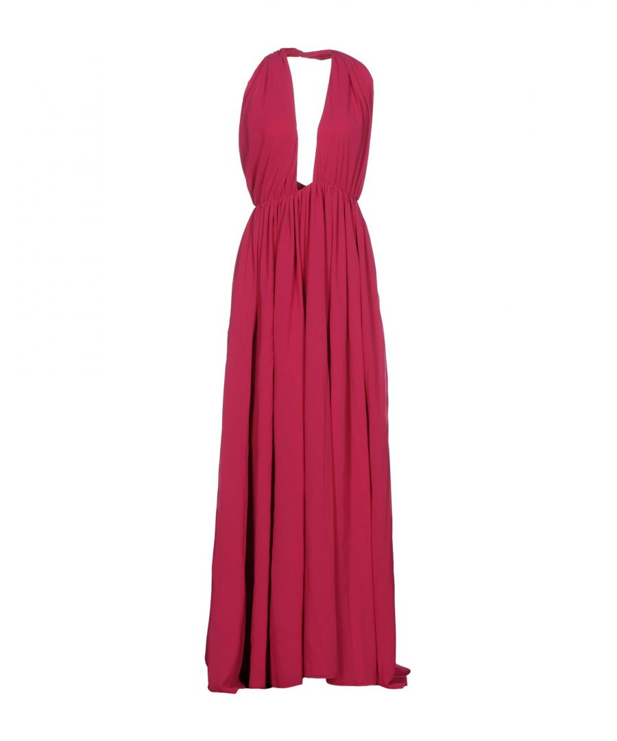 Image for MSGM Garnet Empire Line Full Length Dress