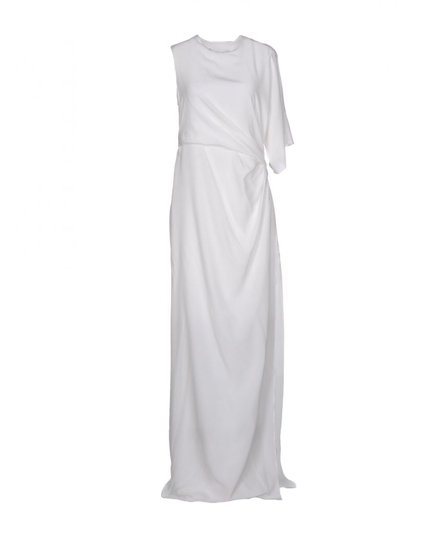 Image for Givenchy White Silk And Lace Full Length Dress