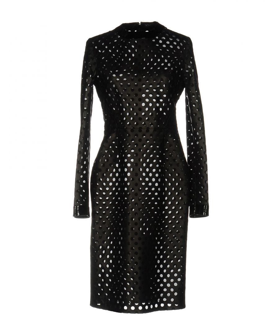 Image for Tom Ford Black Lambskin Leather Long Sleeve Dress