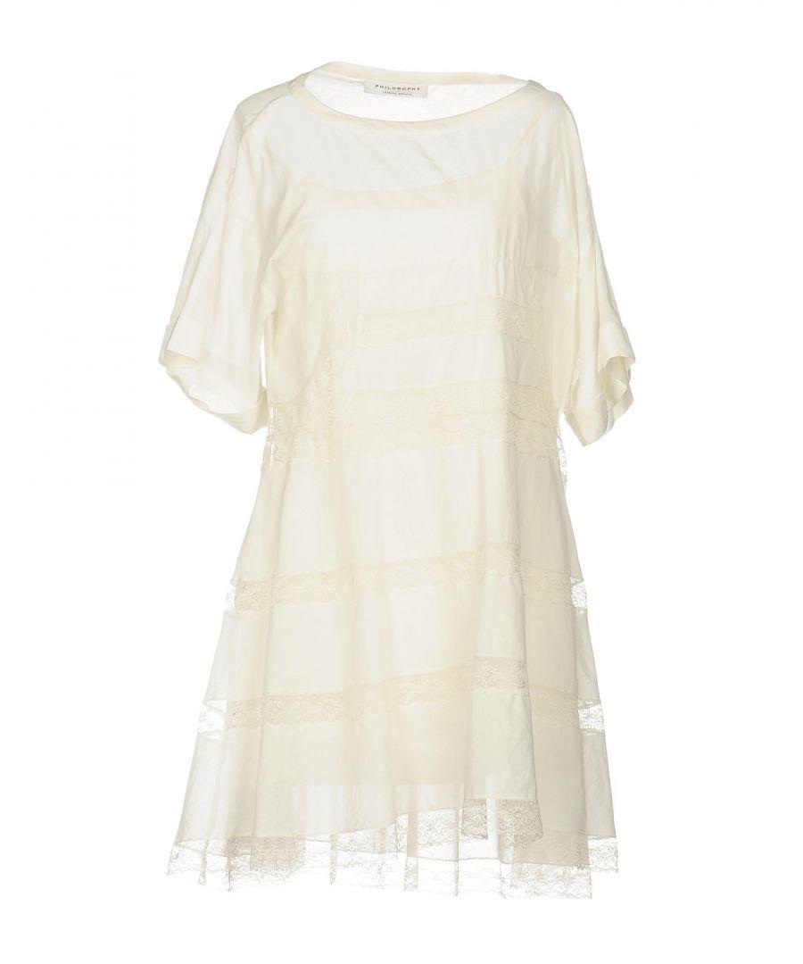 Image for Philosophy Di Lorenzo Serafini Ivory Cotton Lace Dress