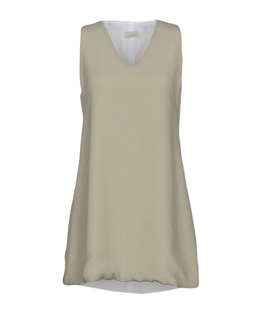 Image for Pinko Military Green Crepe Sleeveless Dress