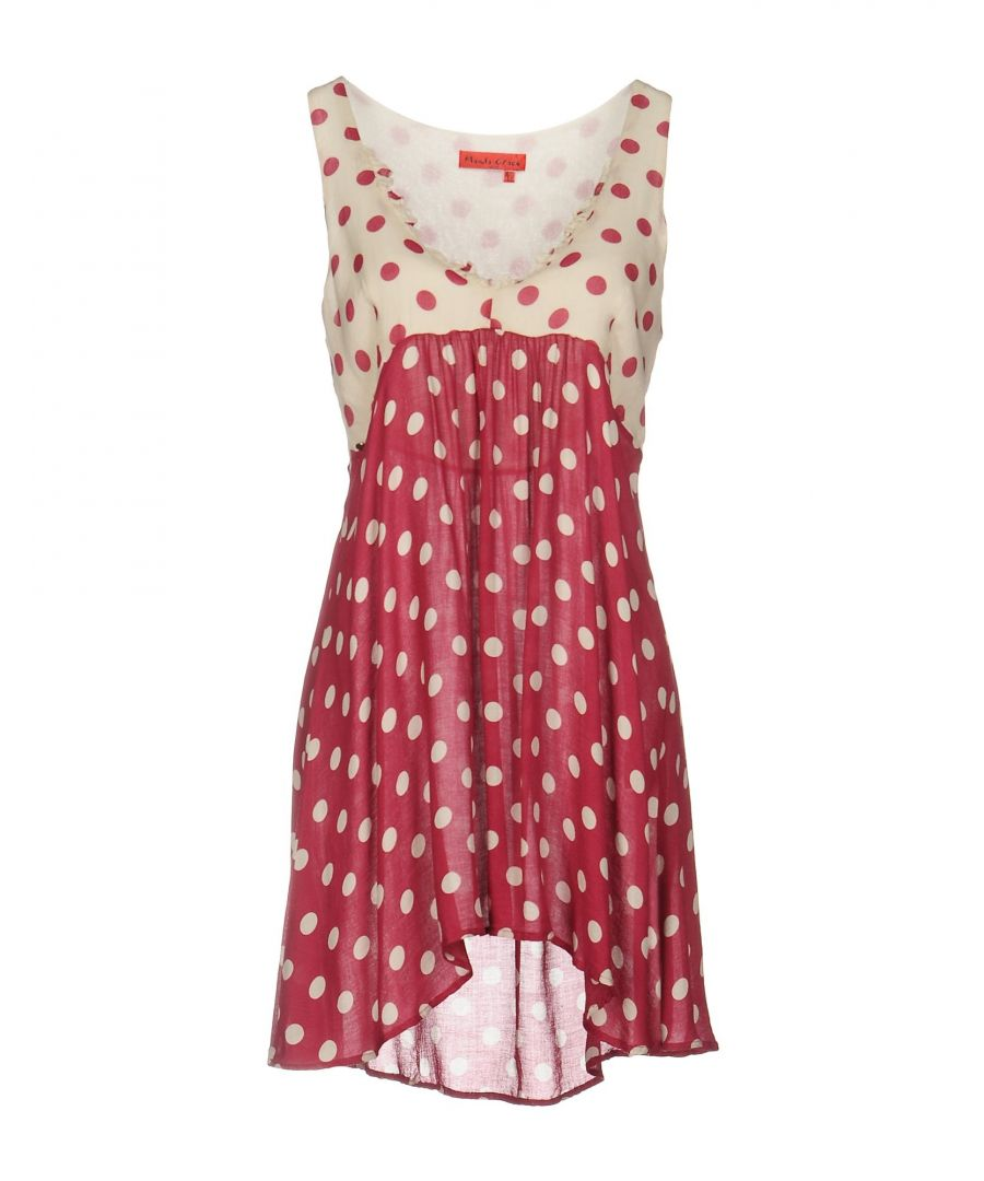 Image for Manila Grace Denim Garnet Print Dress
