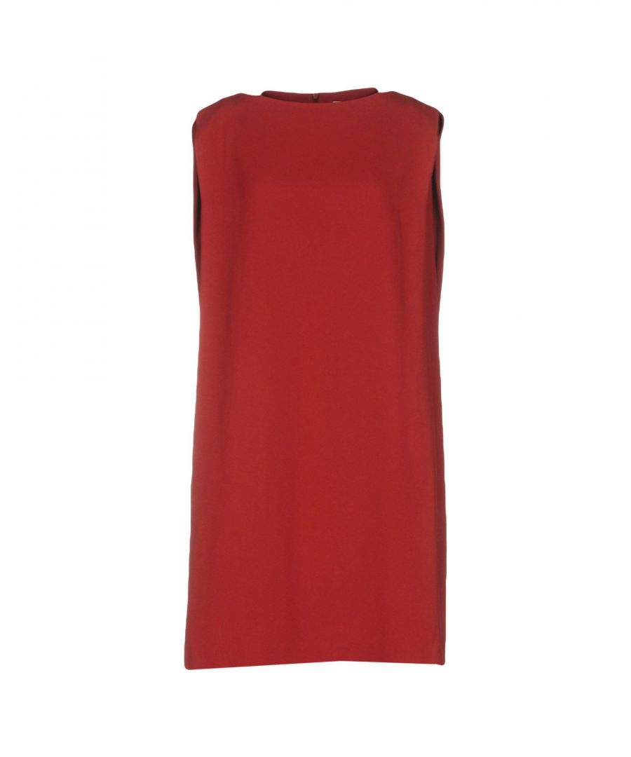 Image for Chalayan Brick red, Dark green Acetate Short dresses