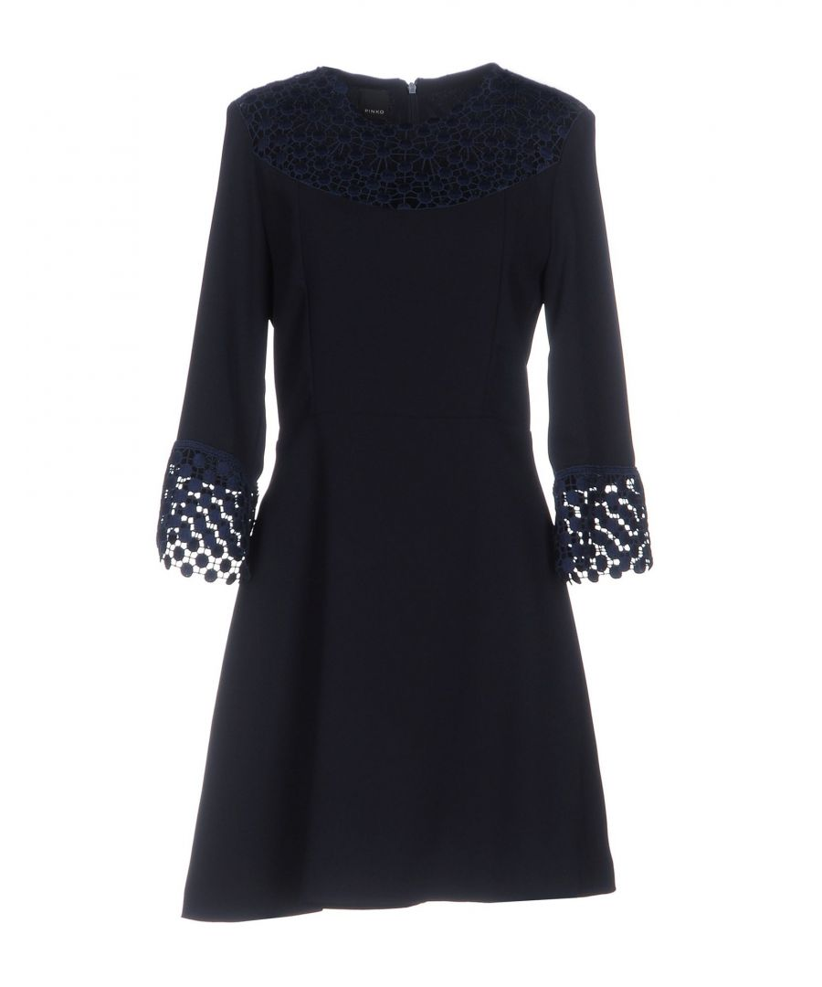 Image for Pinko Dark Blue Long Sleeve Dress