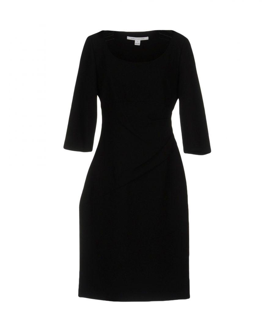Image for Diane Von Furstenberg Black Three Quarter Sleeve Dress