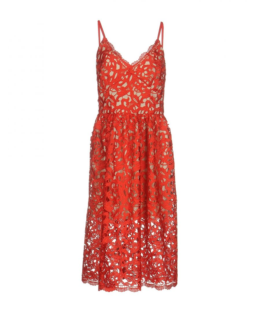 Image for Maiocci Red Cotton Lace Dress