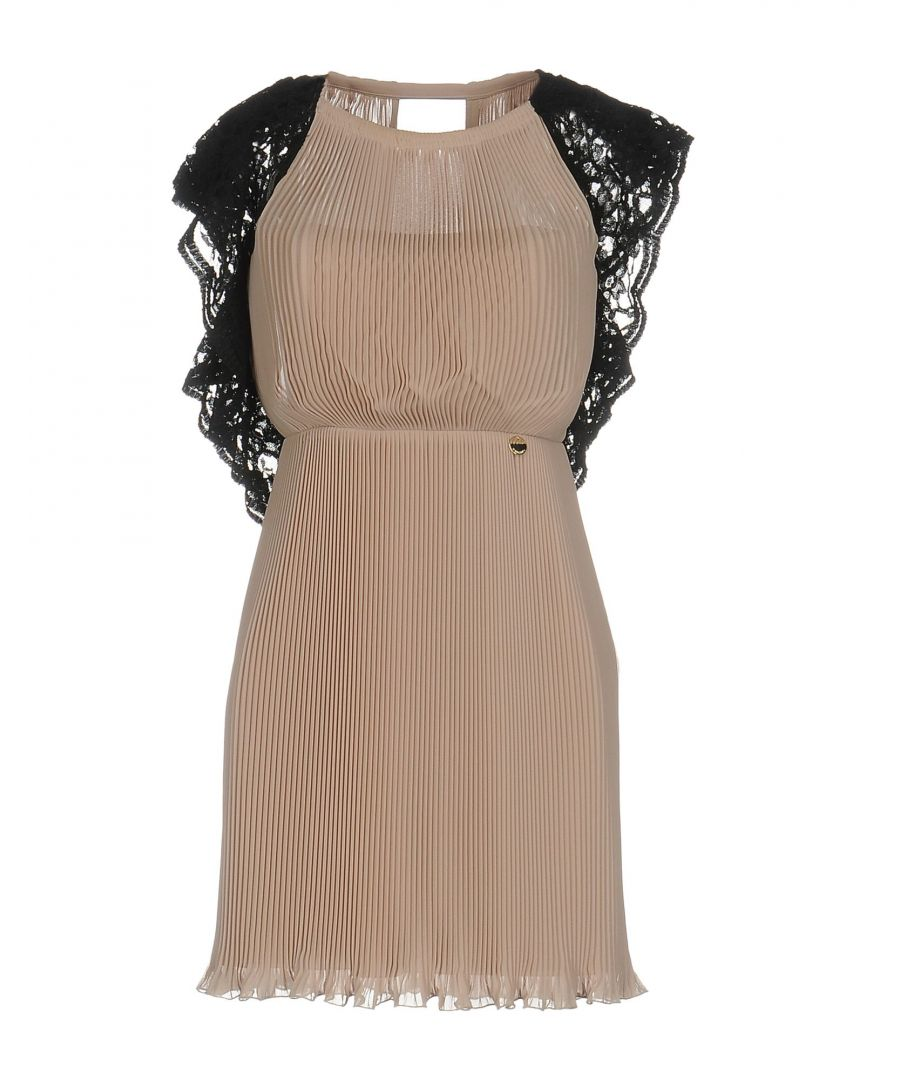 Image for Mangano Pale Pink Crepe And Lace Dress