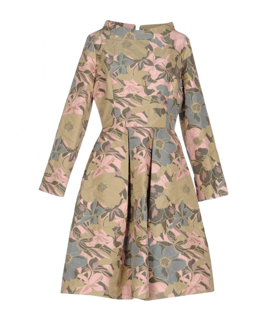 Image for El La� Lago Di Como Pink Floral Design Long Sleeve Dress