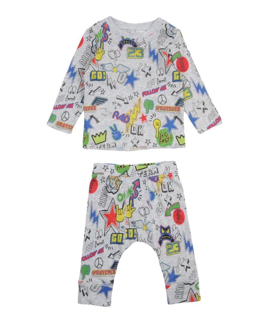 Image for BODYSUITS & SETS Stella Mccartney Kids Grey Boy Cotton