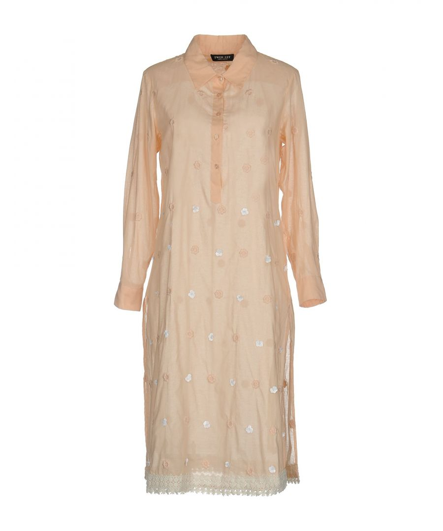 Image for Twinset Salmon Pink Cotton Long Sleeve Shirt Dress