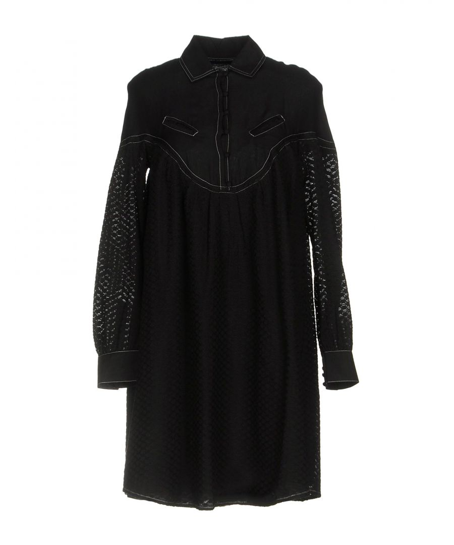 Image for Cecilie Copenhagen Black Cotton Long Sleeve Shirt Dress
