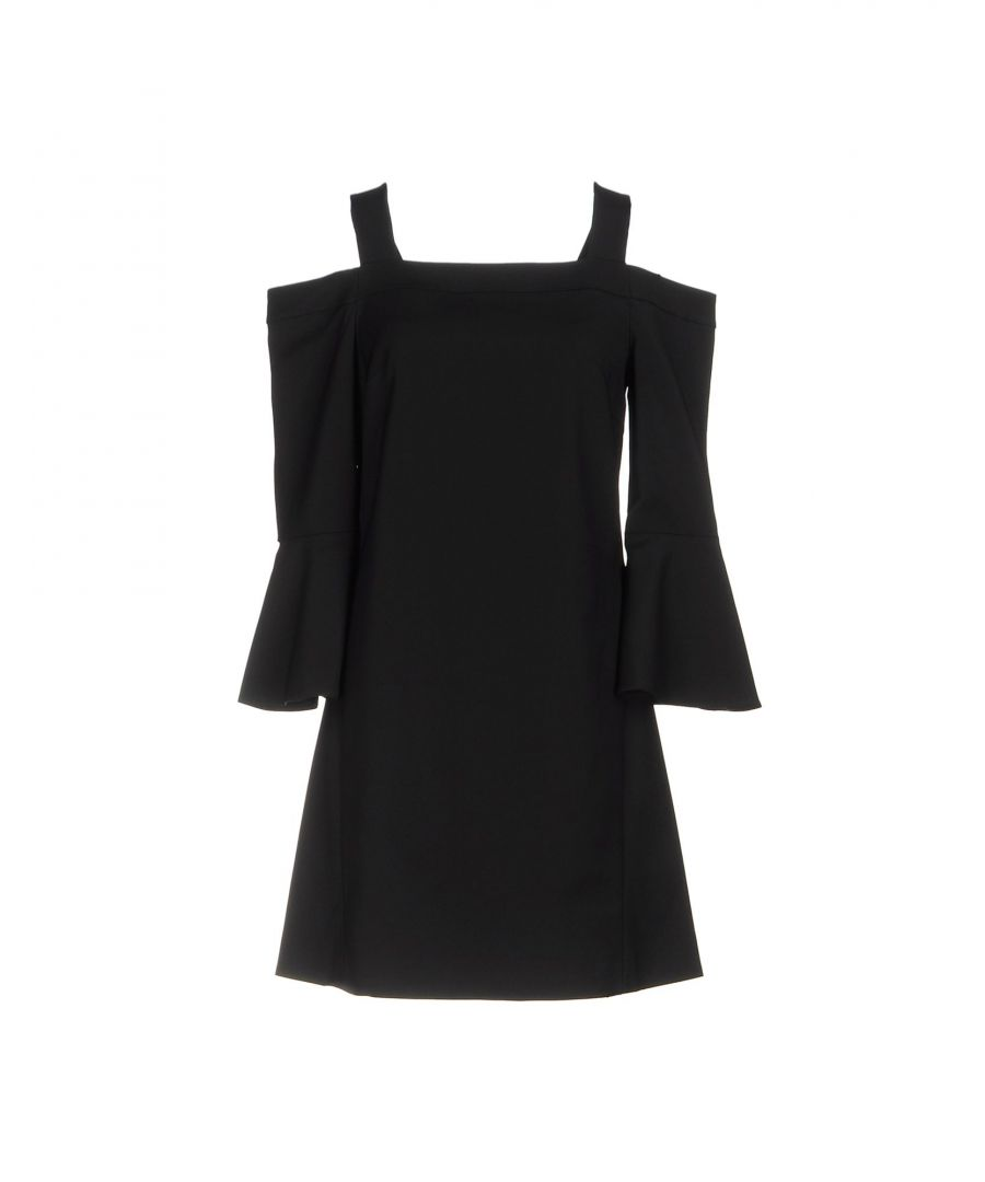 Image for Tibi Black Square Neckline Dress