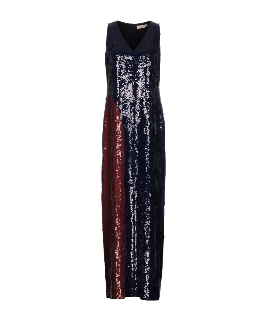 Image for Tory Burch Dark Blue Sequinned Dress