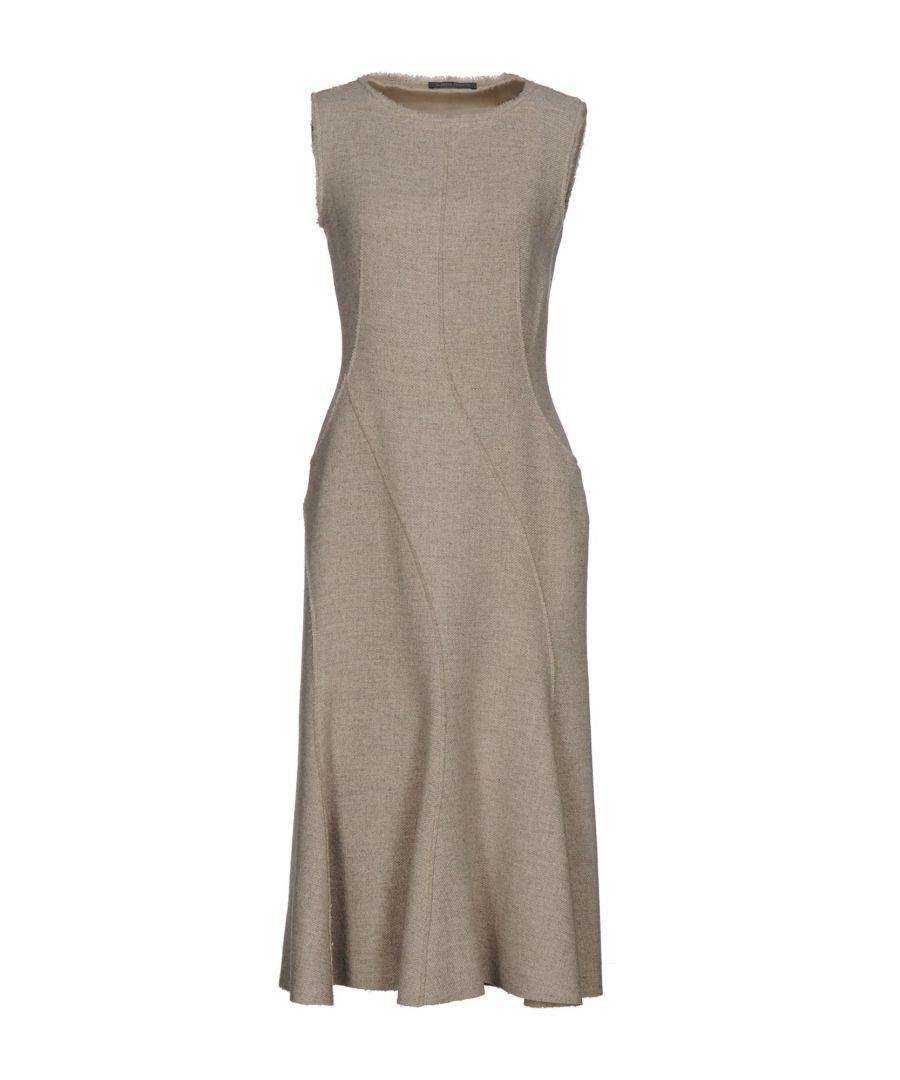 Image for Alberta Ferretti Beige Virgin Wool Dress
