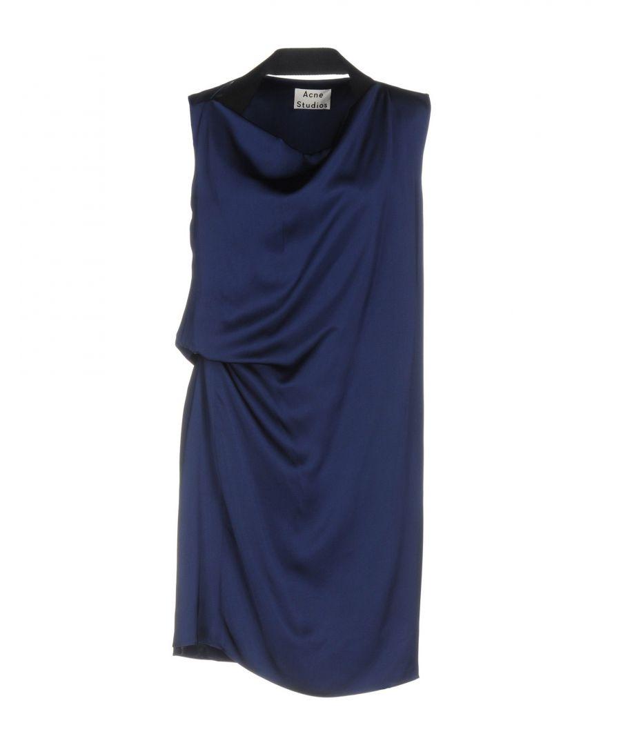 Image for Acne Studios Dark Blue Draped Short Dress