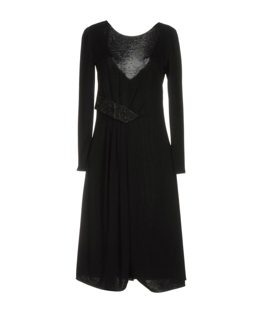 Image for Armani Collezioni Black Long Sleeve Dress