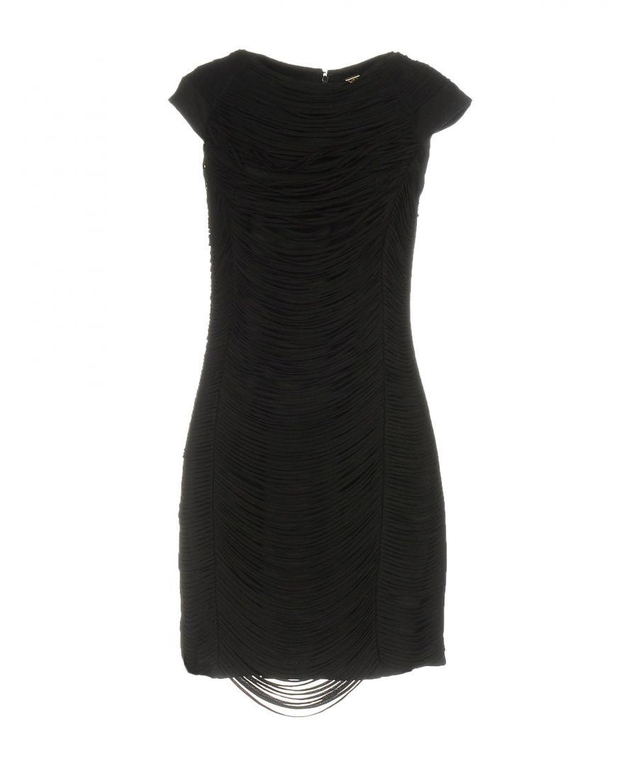 Image for DRESSES Elisabetta Franchi Gold Black Woman Viscose