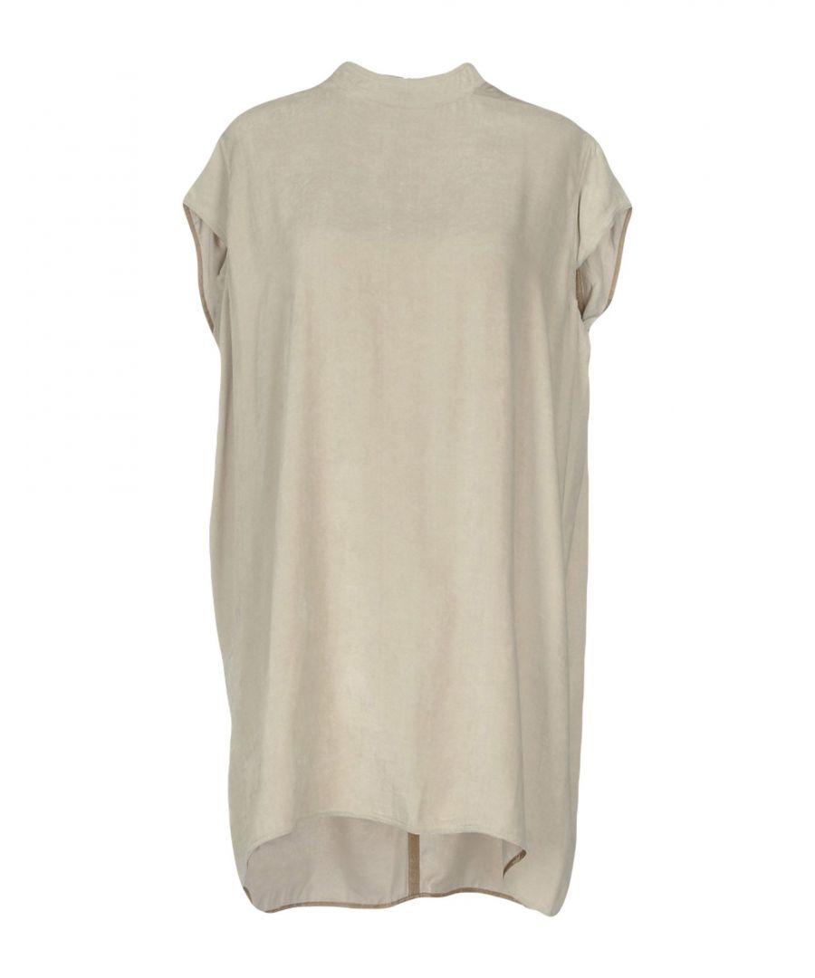 Image for Rick Owens Light Grey Velvet Dress
