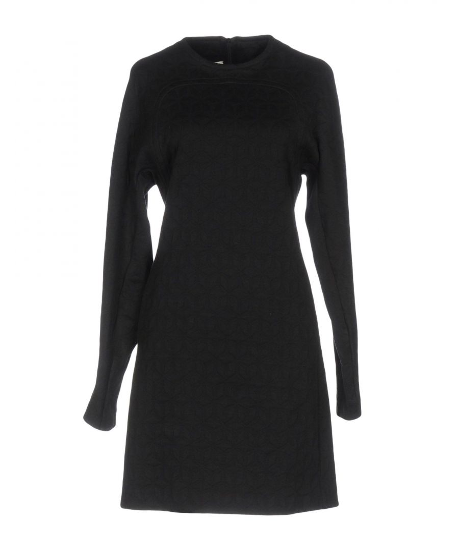 Image for Mauro Grifoni Black Cotton Long Sleeve Dress