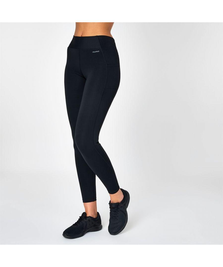 Image for USA Pro Womens Leggings Training Sports Running Fitness Gym Training Bottoms