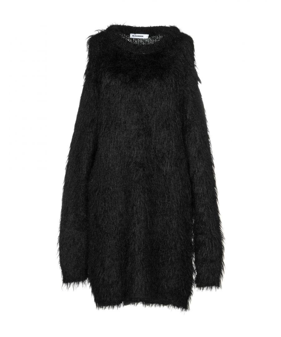 Image for Jil Sander Black Knit Long Sleeve Dress