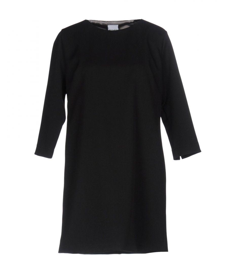 Image for Pf Paola Frani Black Wool Three Quarter Sleeve Dress