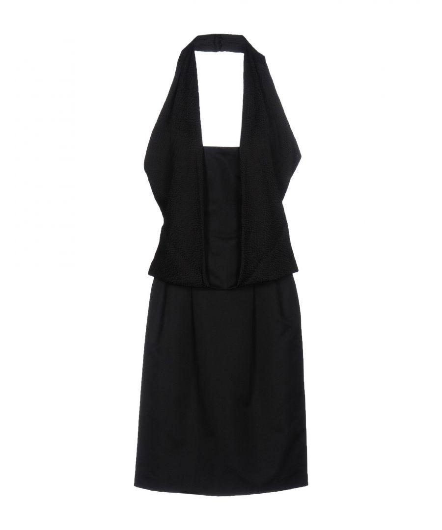Image for Pianoforte Di Max Mara Black Crepe Dress