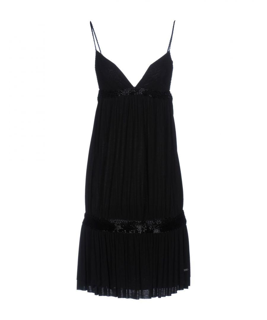Image for Guess Black Jersey Slip Dress