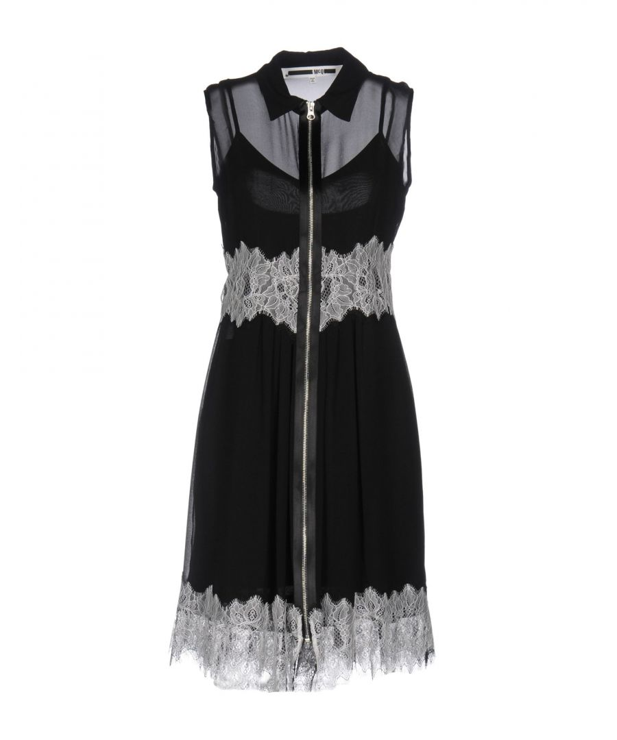 Image for Mcq Alexander McQueen Black Silk And Lace Sleeveless Dress