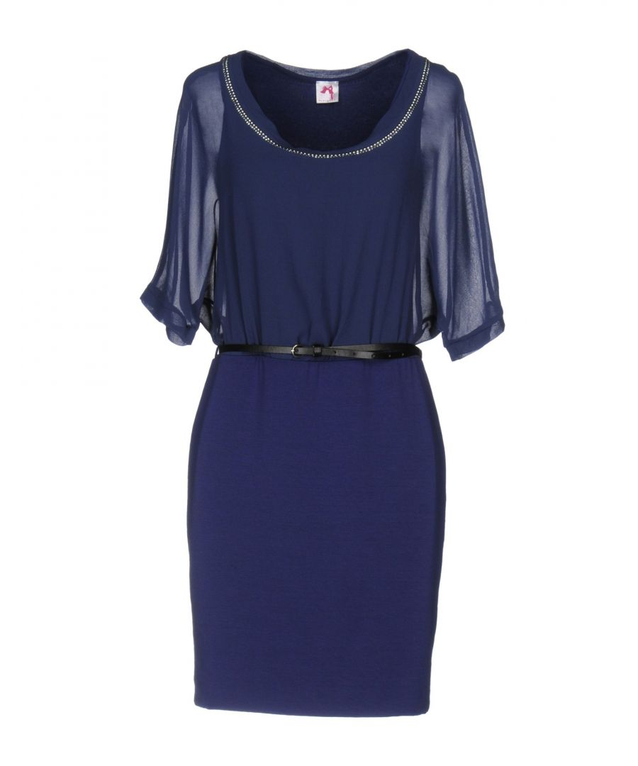 Image for Scee By Twinset Dark Blue Short Sleeve Dress
