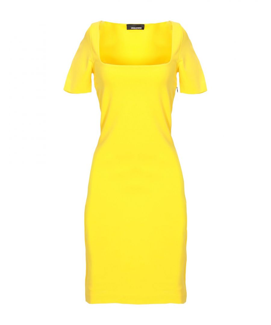 Image for Dsquared2 Yellow Short Sleeve Dress