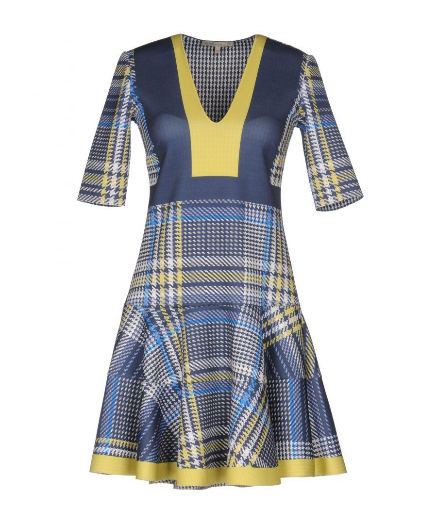Image for Patrizia Pepe Slate Blue Print Short Dress