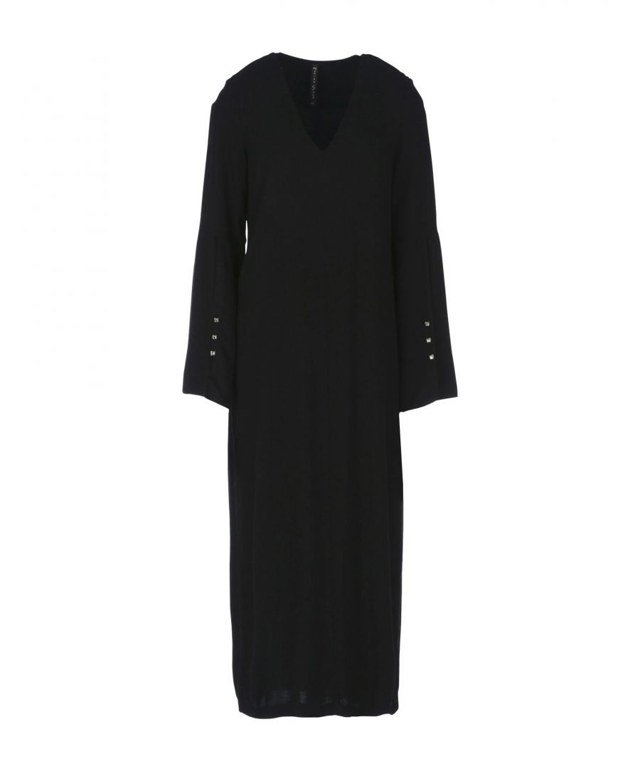 Image for Manila Grace Black Long Sleeve Dress
