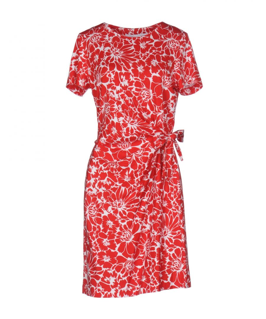 Image for Diane Von Furstenberg Red Print Cotton Dress
