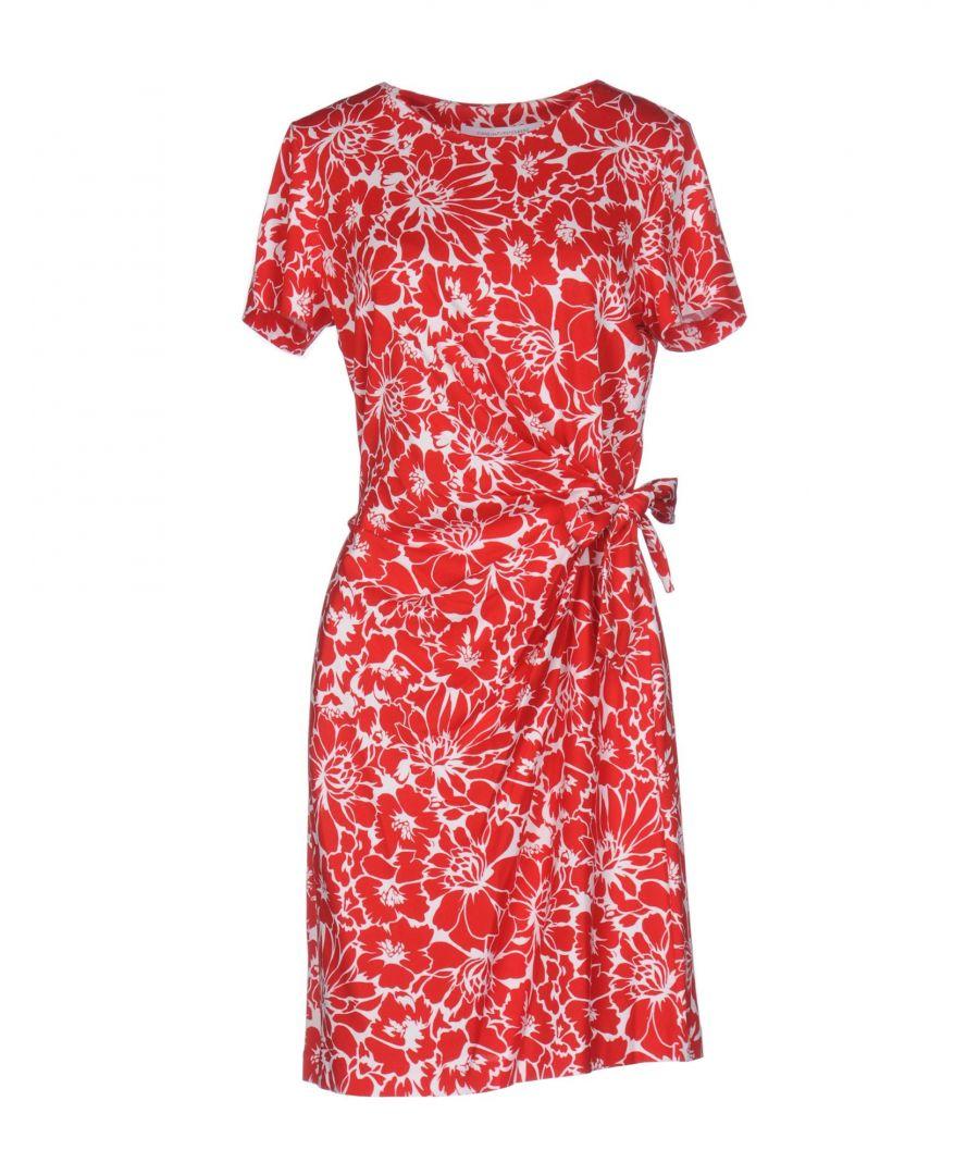 Image for Diane Von Furstenberg Red Print Cotton Dress
