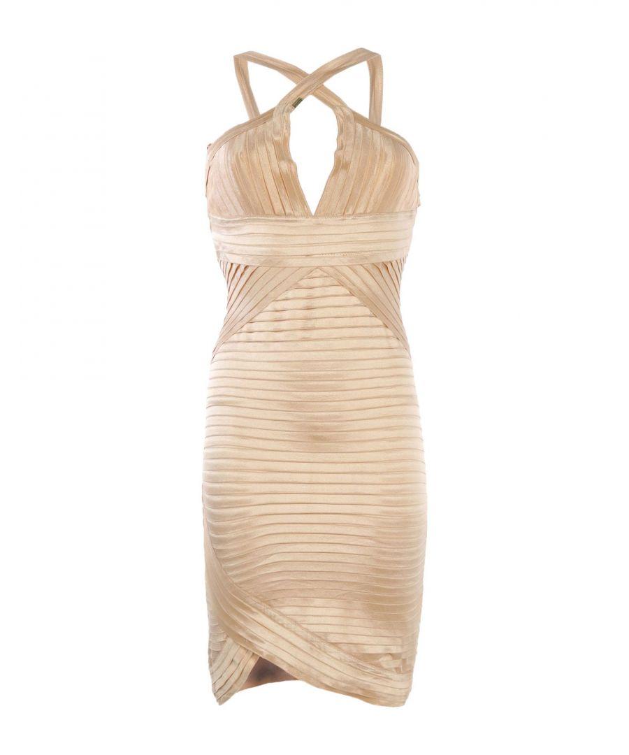 Image for Elisabetta Franchi Gold Sand Short Dress