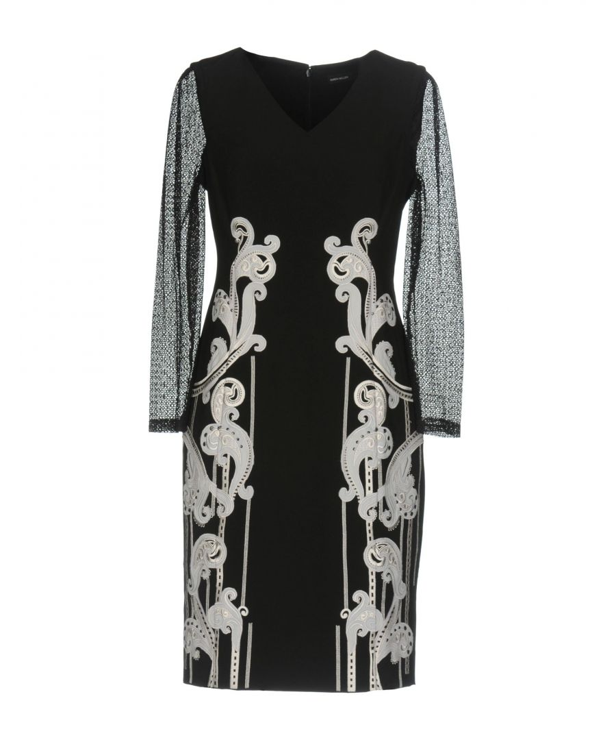 Image for Karen Millen Black Lace Embroidered Dress