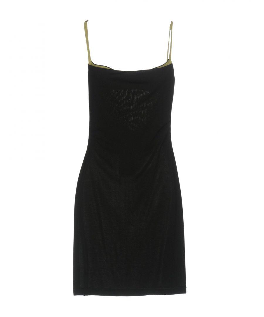 Image for John Richmond Black Crepe Slip Dress