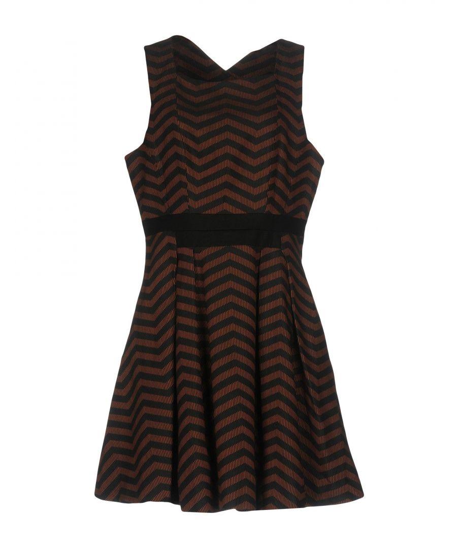 Image for Karen Millen Brown Stripe Sleeveless Dress