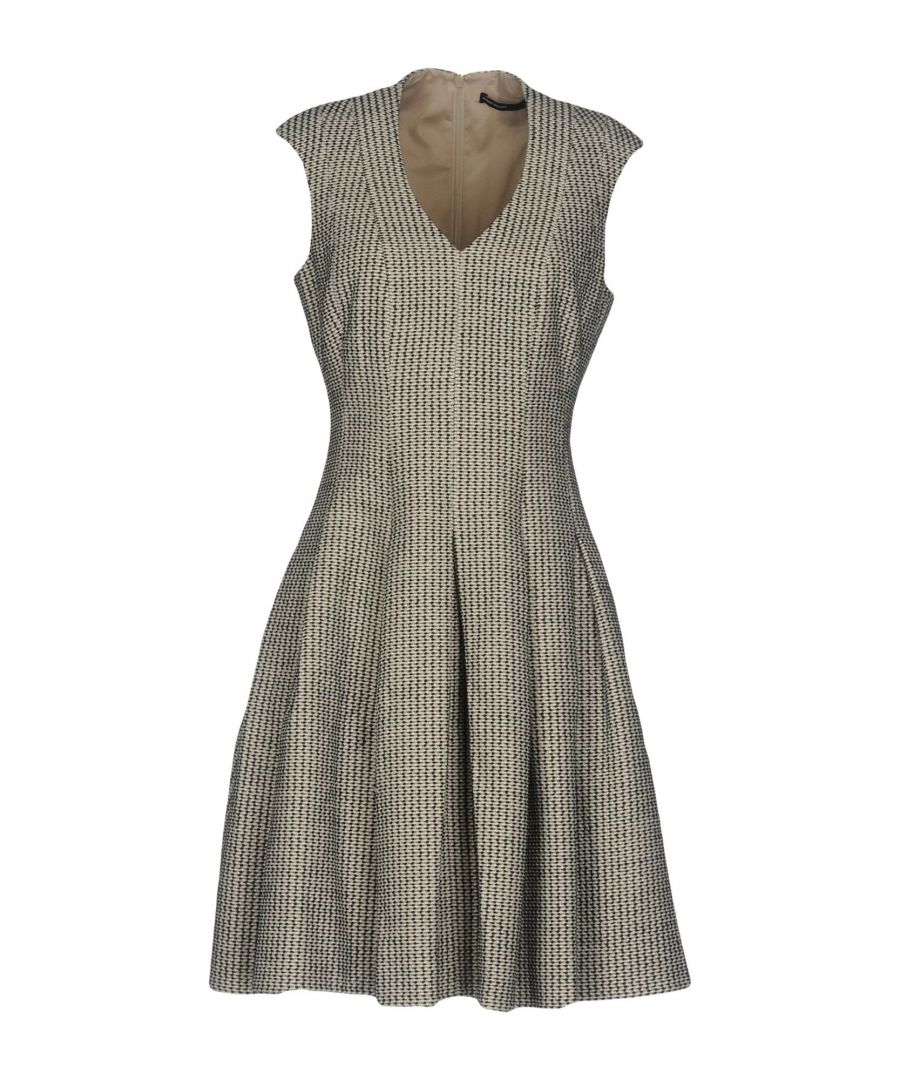 Image for Karen Millen Sand Pattern Sleeveless Dress