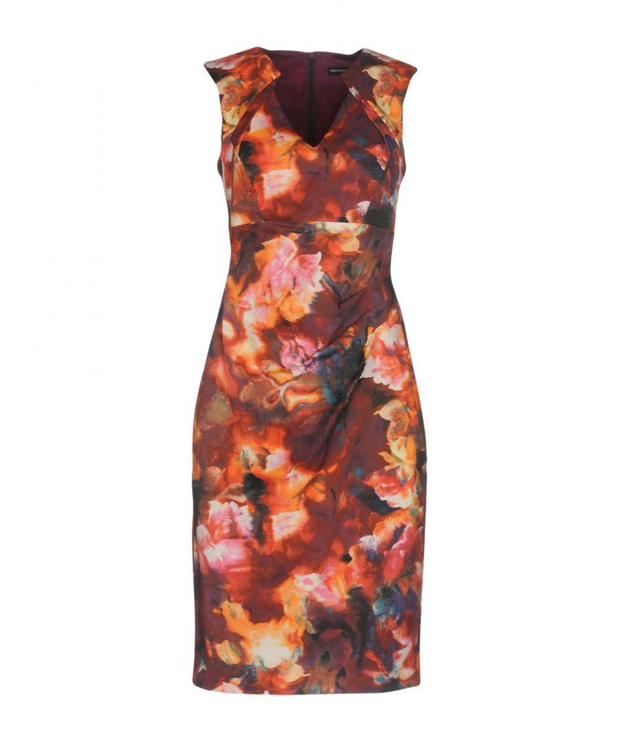 Image for Karen Millen Maroon Satin Dress