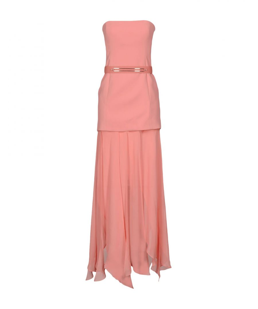 Image for Halston Pink Polyester Long Dress