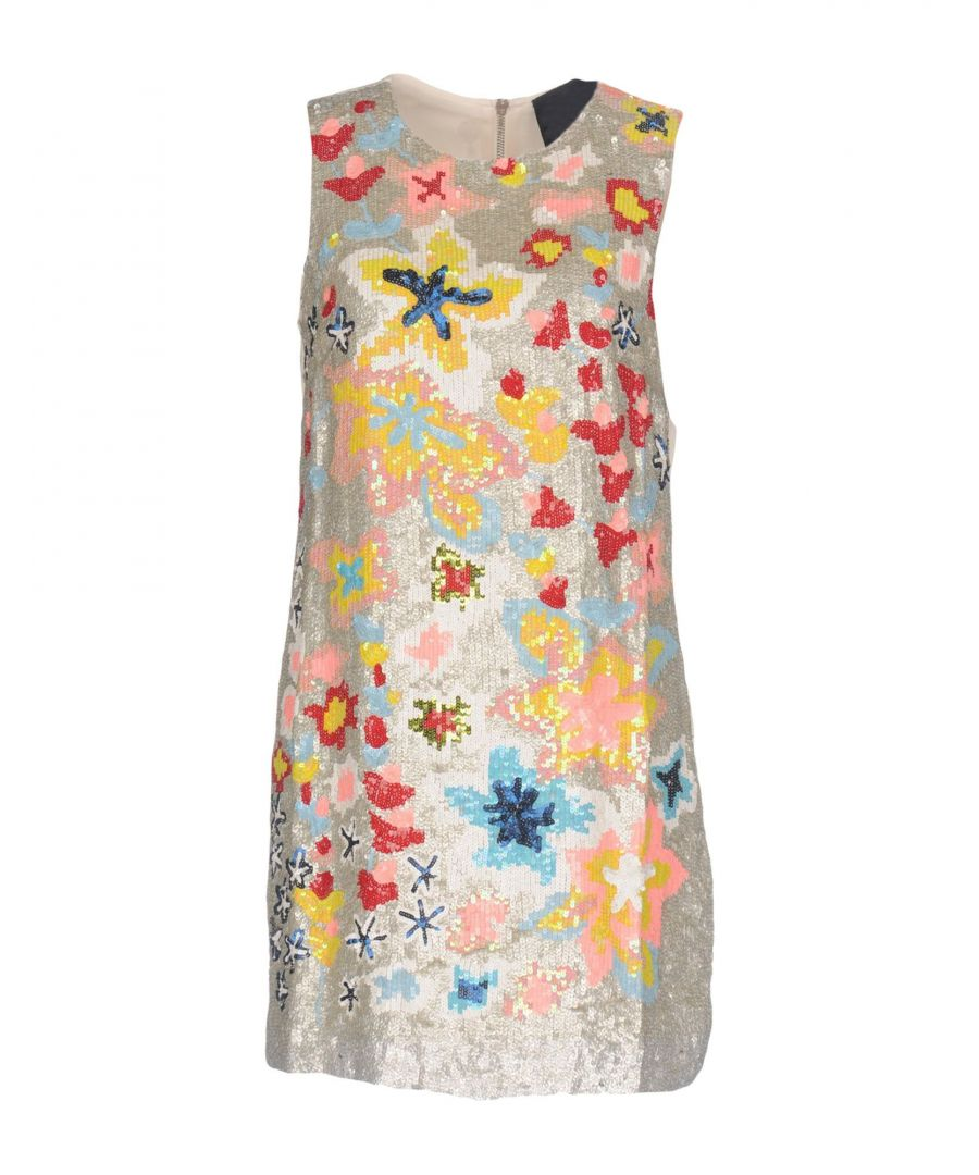 Image for Twin-Set Jeans Light Grey Floral Design Sequinned Dress