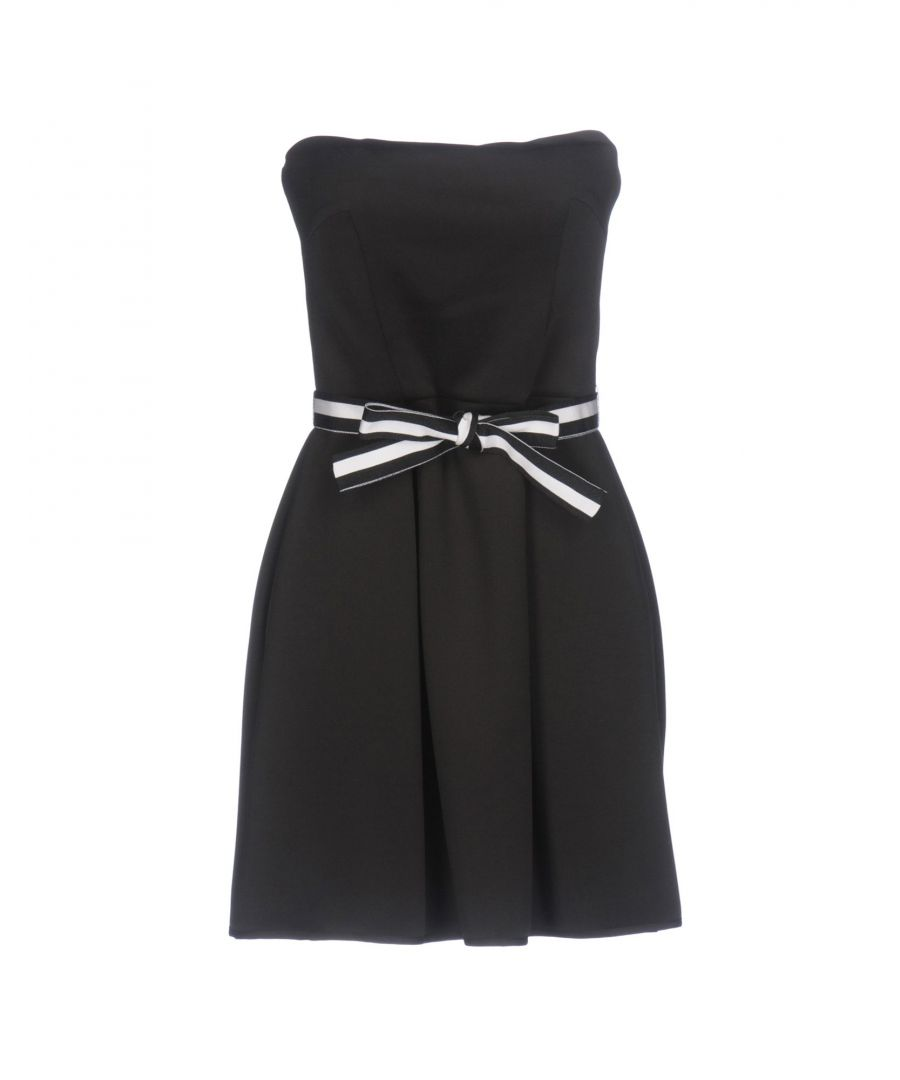 Image for Atos Lombardini Black Strapless Dress