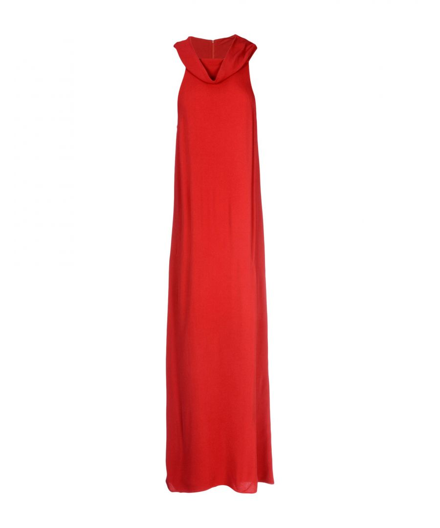 Image for Pink Memories Red Crepe Long Dress