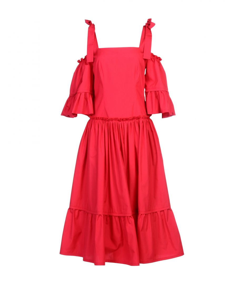 Image for Alberta Ferretti Fuchsia Cotton Dress