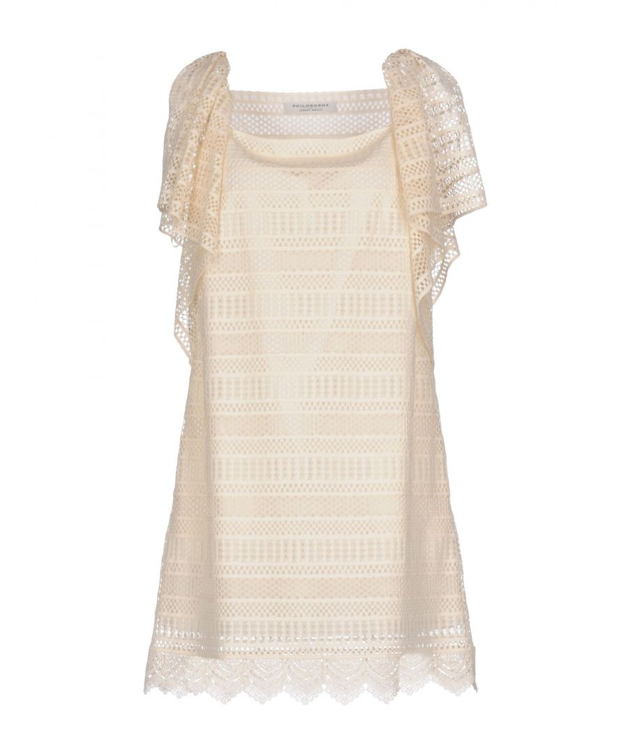 Image for Philosophy Di Lorenzo Serafini Ivory Cotton Dress