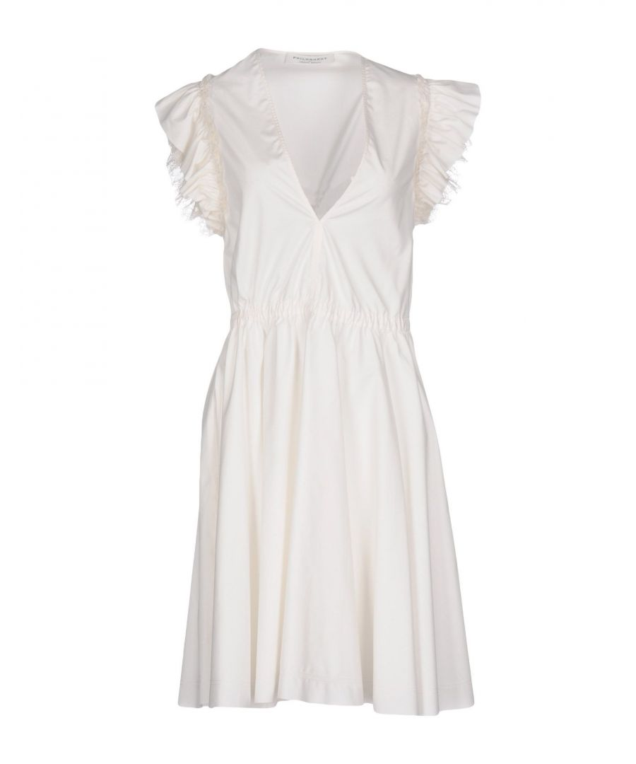 Image for Philosophy Di Lorenzo Serafini White Cotton Short Dress